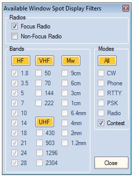 Available BandAndModeFilter