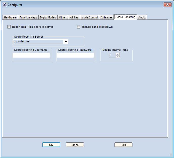 Configurer ScoreReportingTab