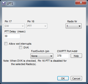 Configurer SetDialog LptPort