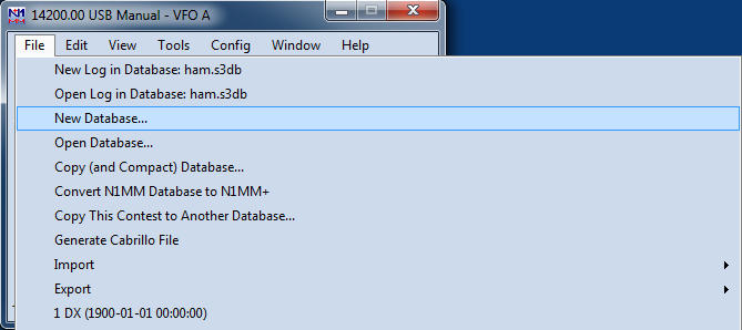 Entry FileMenu NewDatabase