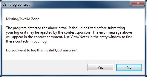 Entry InvalidContactDialog