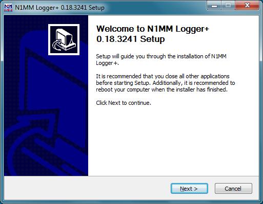 Installer WelcomeDialog