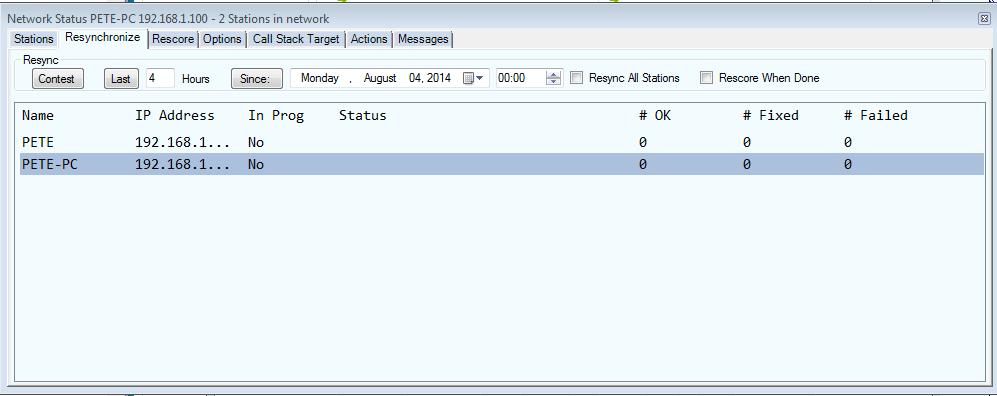 NetworkStatus Resync