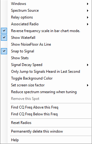 Spectrum Right Click Menu