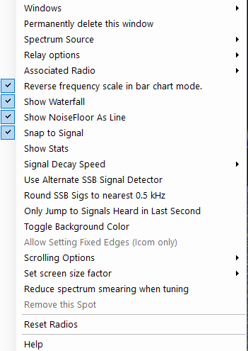 The Spectrum Display Window – N1MM Logger Plus